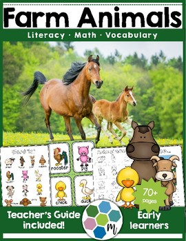 Farm Animals Math & Literacy - Printables & Activities