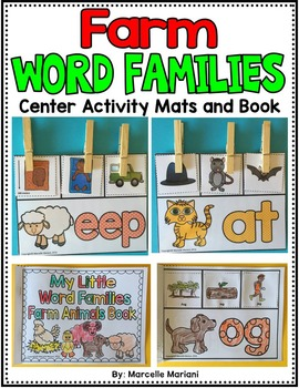 WORD FAMILIES ACTIVITIES AND PRINTABLE BOOK (Farm theme)