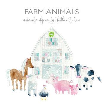 Farm Clipart Barnyard Clipart Farm Animals Clipart Farm Clip Art Barn Clipart