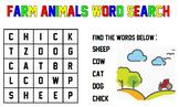 Farm Animals (Word Search)