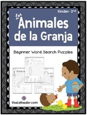 Farm Animals Word Search Puzzles in Spanish/ Animales de l