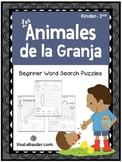 Farm Animals Word Search Puzzles in Spanish/ Animales de l