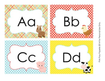 Farm Animals Word Wall Headers