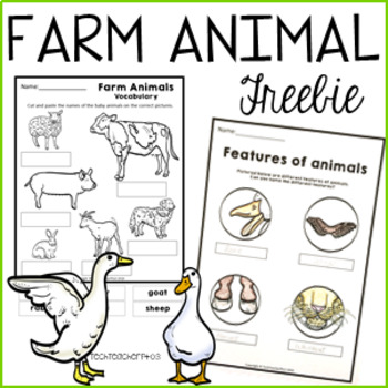 Farm Animals Worksheets Free Download