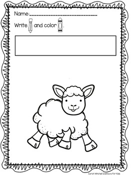 Phonics Farm Animals Write and Color Pages Mothers and Babies