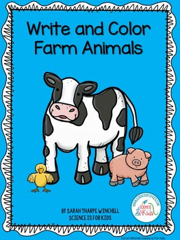 Farm Animals Write and Color Pages Mothers and Babies