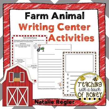 Farm Animals Writing Center