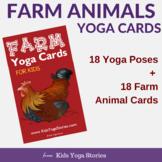Farm Animals Yoga Cards for Kids
