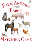 Farm Animals and their Babies Matching Game with Real Pictures