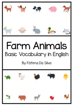Farm Animals in English for Kindergarten and 1st. Grade
