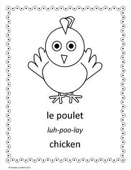 Farm Animals Activities and Games in French -  Les Animaux de Ferme en Français