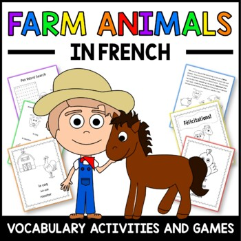 Farm Animals Activities and Games in French -  Les Animaux