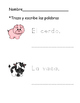 Farm Animals in Spanish- Vocabulary Trace