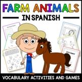 Farm Animals Activities and Games in Spanish -  Los Animales de Granja