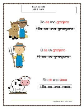 Farm Animals in Spanish with teaching guidelines