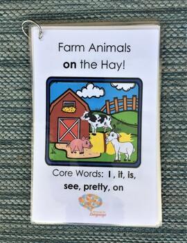 Farm Animals on the Hay! Interactive Mini-Book