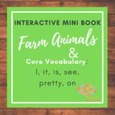 Farm Animals on the Hay! Interactive Mini-Book, Core, Autism, Speech Language