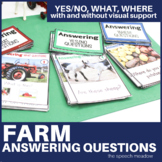 Farm: Answering Yes/No, What, and Where Questions