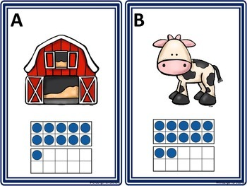 Farm Babies Count The Room 1-10 and 11-20 Ten Frames
