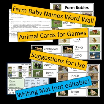 Farm Babies -- PowerPoint Presentation and Printables
