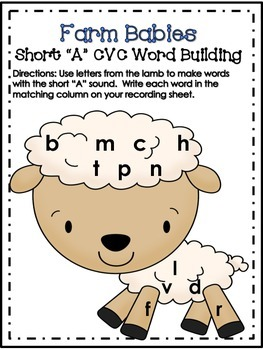 Farm Babies - Short Vowel/CVC Word Building