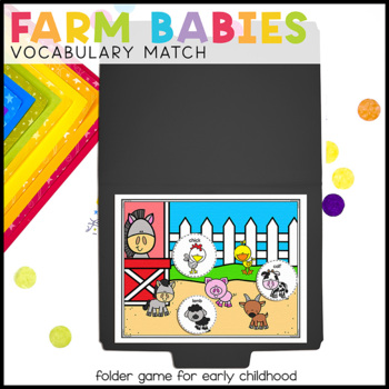 Farm Babies Vocabulary Folder Game for Early Childhood Special Education