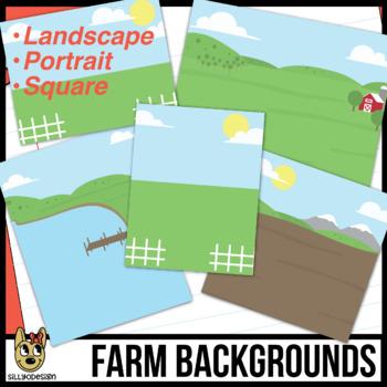 Farm Background Scenes Clip Art