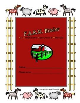 Farm {Barn Animals} Binder Cover