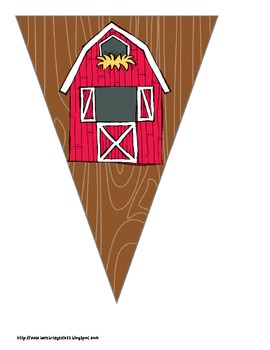 Farm / Barn Themed Buntings- Customize Your Own Banner!