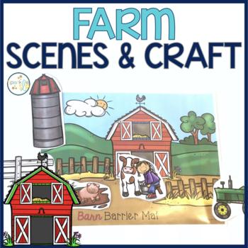 Farm Barrier Activity & Craftivity Speech and Language Development