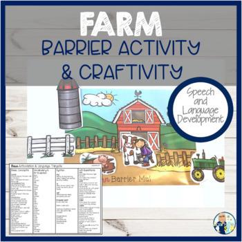Barrier Activity & Craftivity Speech & Language Development: FARM