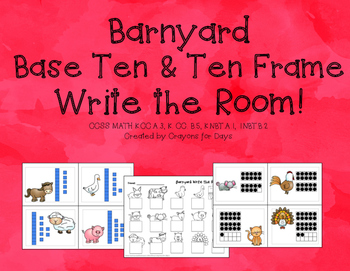 Farm Base Ten & Ten Frame Write the Room