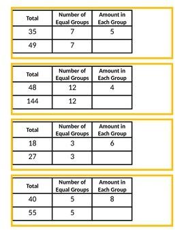 Farm Bean Bag Toss: Division Word Problems and Computation (Question Set A)