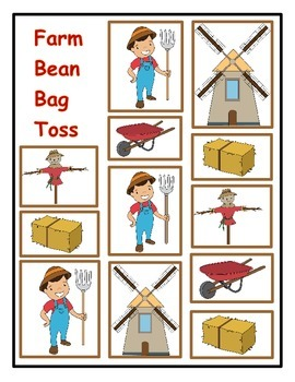 Farm Bean Bag Toss: Division Word Problems and Computation