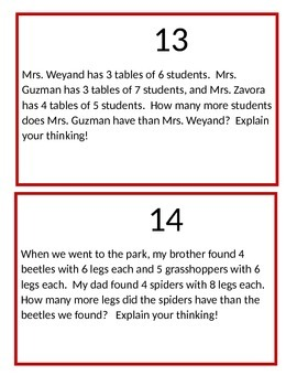 Farm Bean Bag Toss Multiplication (Question Set C)