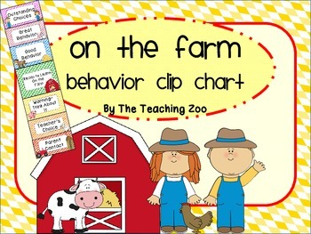 Farm Behavior Clip Chart