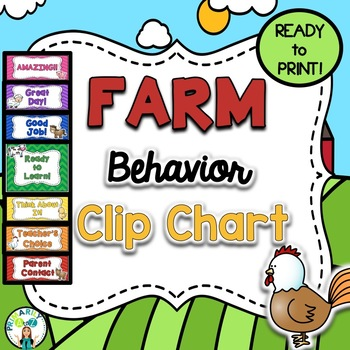 Farm Behavior Clip Chart