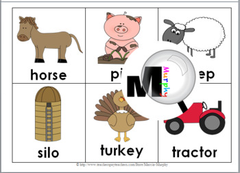 Farm Animals and Farm Life Bingo Game - Farm Literacy