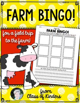 Farm Bingo! Field Trip Fun for Kindergarten and First Grade