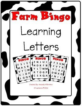 Farm Bingo Letter Name Letter Sound