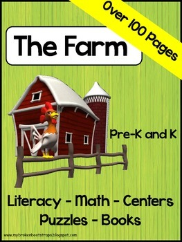 Farm Books, Activities, and Puzzles