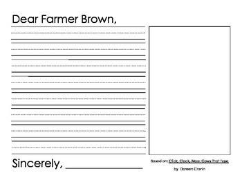 Farm Brown writing activity