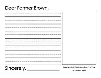 Farm Brown writing activity