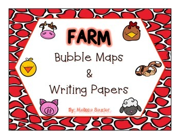 Farm Bubble Maps & Writing Papers