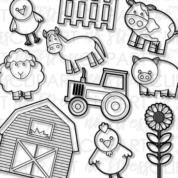 Farm Buddies Clip Art (Digital Use Ok!)