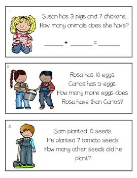 Farm Buddies Task Cards {Combinations of 10}