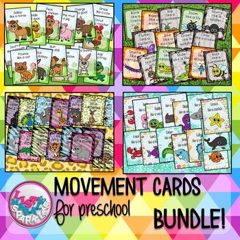 Farm Bug Ocean Zoo Animals Movement Cards for Preschool Brain Break