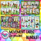 Farm Bug Ocean Zoo Animals Movement Cards for Preschool Brain Break BUNDLE