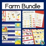 Farm Bundle: Reading Center, Math Centers, Patterning, and Concentration Game