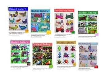 Farm Bundle Art Lessons for Grades K-3